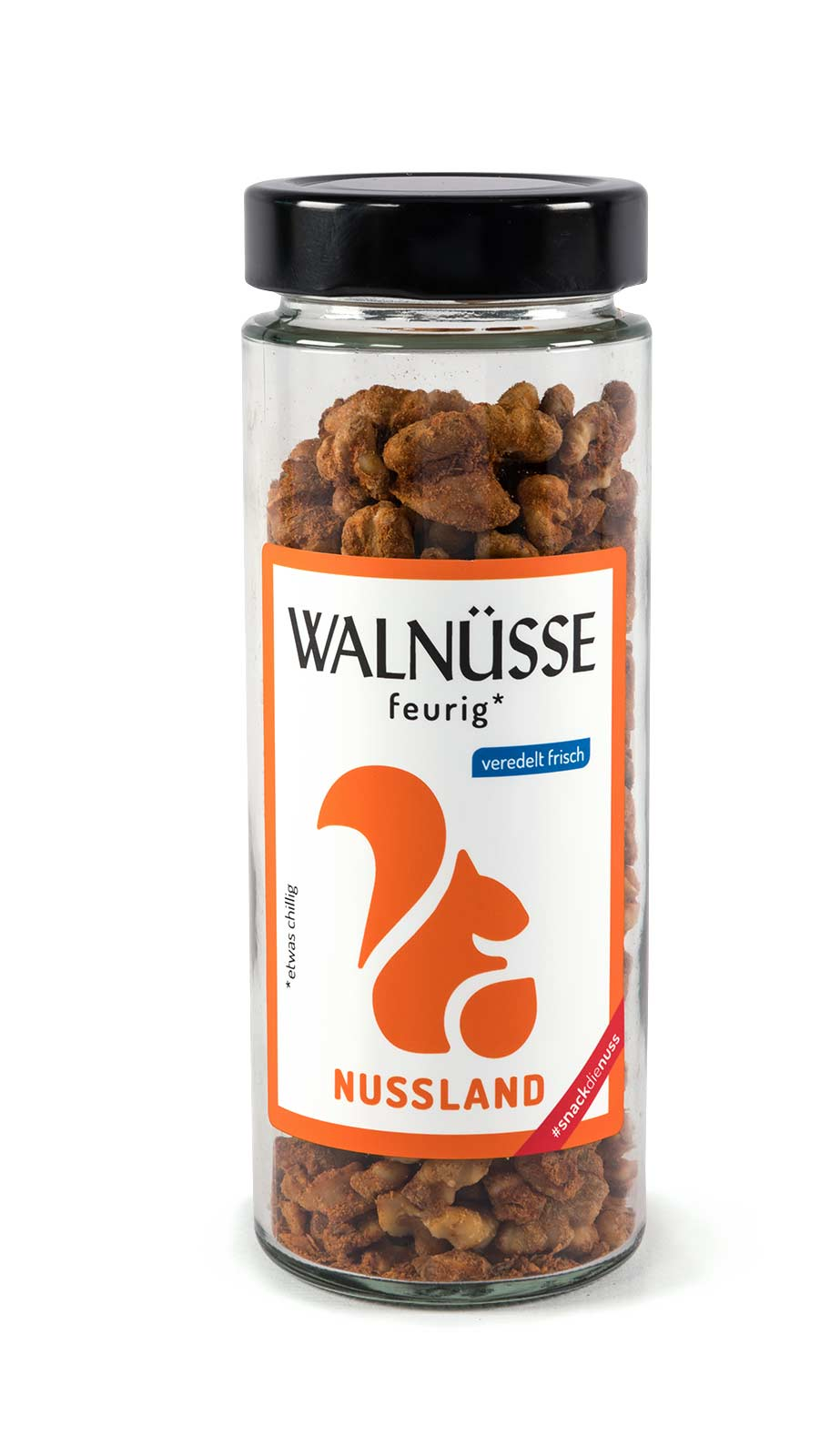 Walnuss-Snack 'feurig'